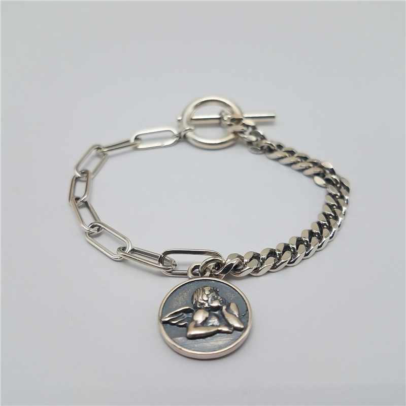 Popular 925 sterling silver material angel style bracelet